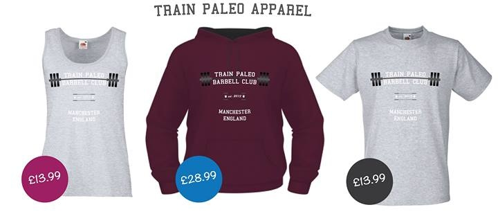 Train Paleo Barbell Club Apparel